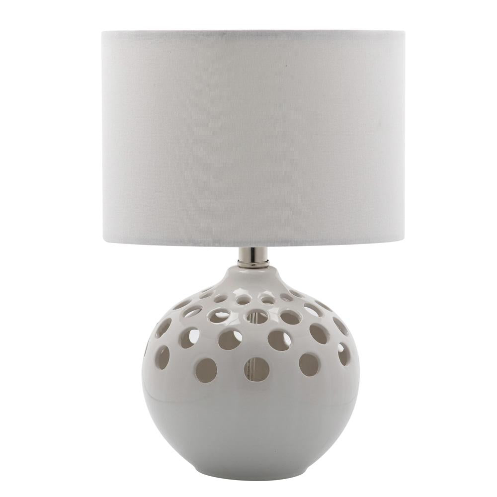 White eyelet table lamp mariana home white eyelet table lamp geotapseo Images