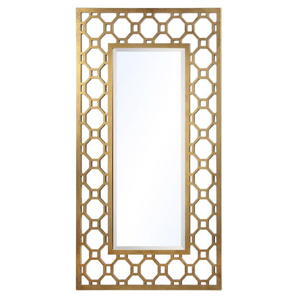 Mariana Home - Achilles Rectangle Wall Mirror - Gold Leaf Finish - 151018