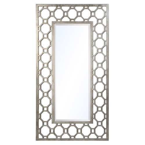 Mariana Home - Tabitha Rectangle Mirror - Silver Leaf Finish - 151019