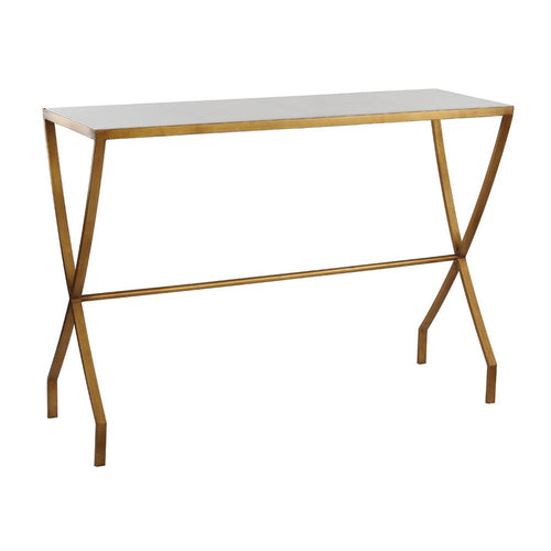 Mariana Home - Mason Marble Top Console Table - Gold Leaf Finish - 151020