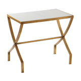 Mariana Home - Mason Marble Top Accent Table - Gold Leaf Finish - 151021