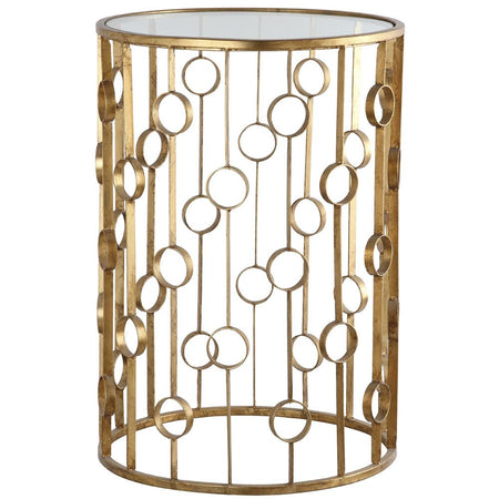 Zenith Accent Table - Silver Leaf