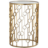 Mariana Home - Side Accent Table - Gold Finish with Mirror Top - 152001
