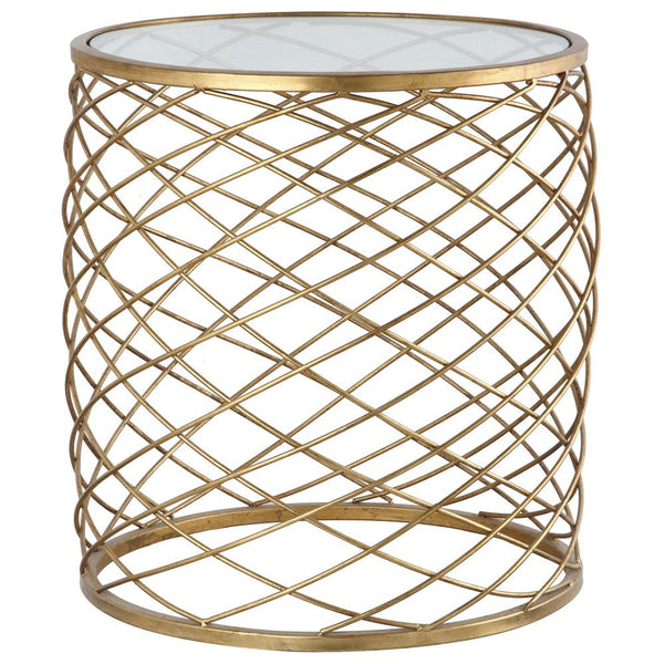 Mariana Home - Accent Table - Gold Leaf Finish with Mirror Top - 152003