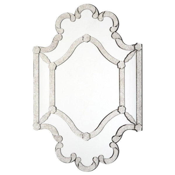 Mariana Home - Queen Anne's Lace Wall Mirror - Silver Leaf Frame - 152005