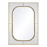 Mariana Home - Savannah Rectangle Framed Wall Mirror - Gold Leaf Finish - Antique Mirror - 152012