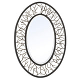 Mariana Home - Dillan Oval Framed Wall Mirror - Bronze Finish - Branch Accents - 152016