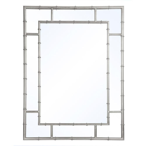Mariana Home - Garrett Rectangle Framed Wall Mirror - Silver Finish - 152019
