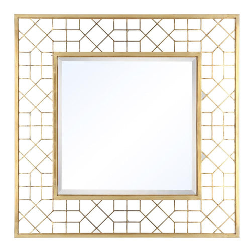 Mariana Home - Monico Square Framed Wall Mirror - Gold Finish - 152021
