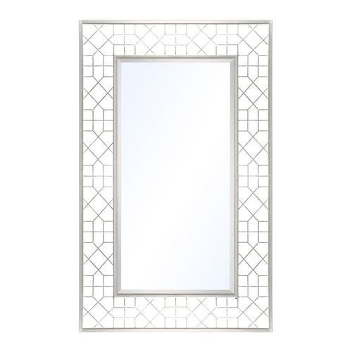 Mariana Home - Renita Rectangle Framed Wall Mirror - Silver Finish - 152022