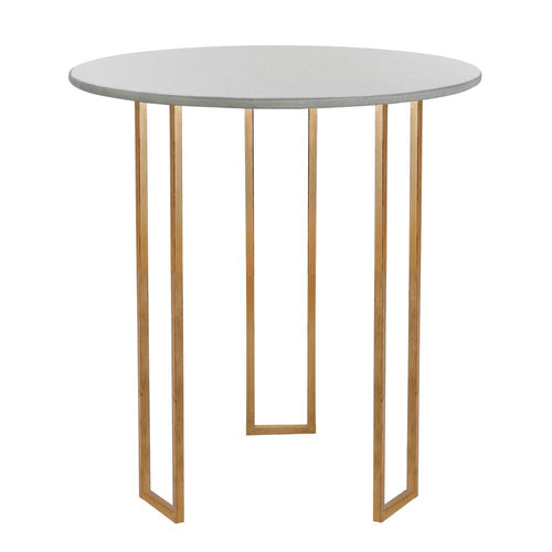 Mariana Home - Vixen Marble Top Accent Table - Gold Leaf Finish - 152031