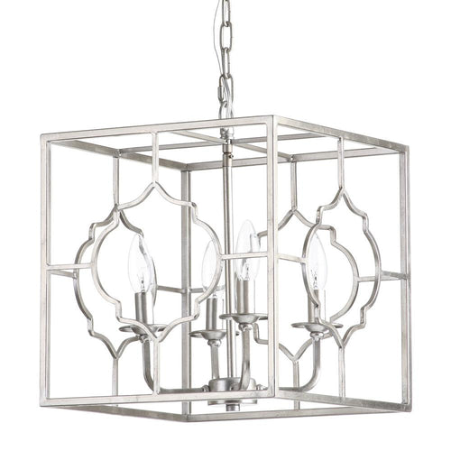 Mariana Home - Cassandra Four Light Pendant - Silver Leaf Finish - 152032