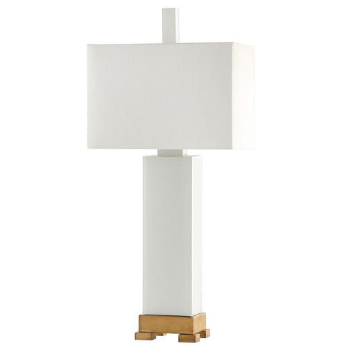 Mariana Home - Chardonnay Table Lamp - White Art Glass Body with Gold Leaf Finished Trim - 152038