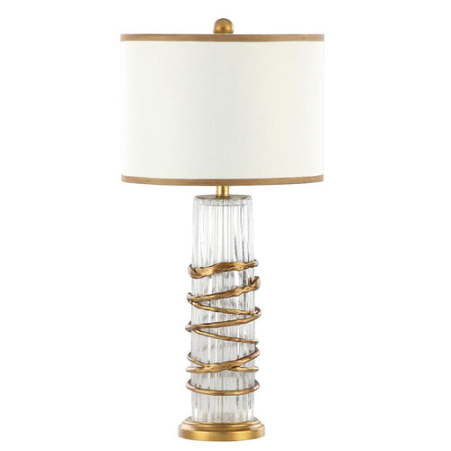 Mariana Home - Cobra Table Lamp - Art Glass and Gold Leaf Finish - 152040