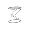 Mariana Home - Zenith Accent Table - Silver Leaf Finish with Glass Top - 152049
