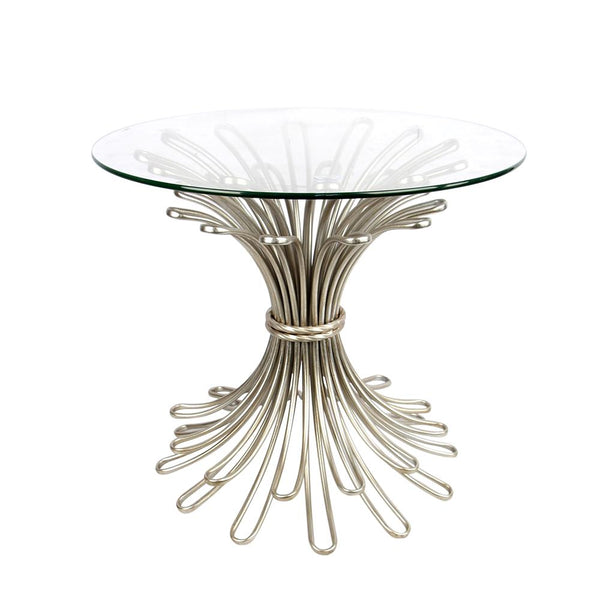 Mariana Home - Andover Accent Table - Silver Leaf Finish with Glass Top - 152051