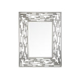 Mariana Home - Framed Rectangle Mariah Wall Mirror - Silver Leaf Finish - 152052