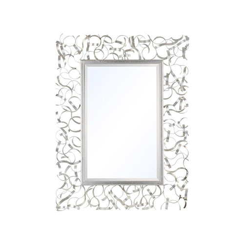 Mariana Home - Framed Rectangle Jasmine Wall Mirror - Silver Leaf Finish - 152053