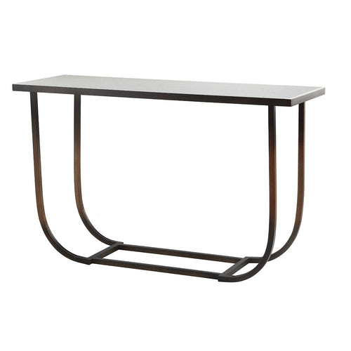 Mariana Home - Boeing Console Table - Bronze Finish with White Marble Top - 152054