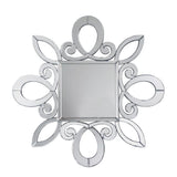 Mariana Home - Asterisk Square Wall Mirror - Decorative Curved Beveled Frame - 170348