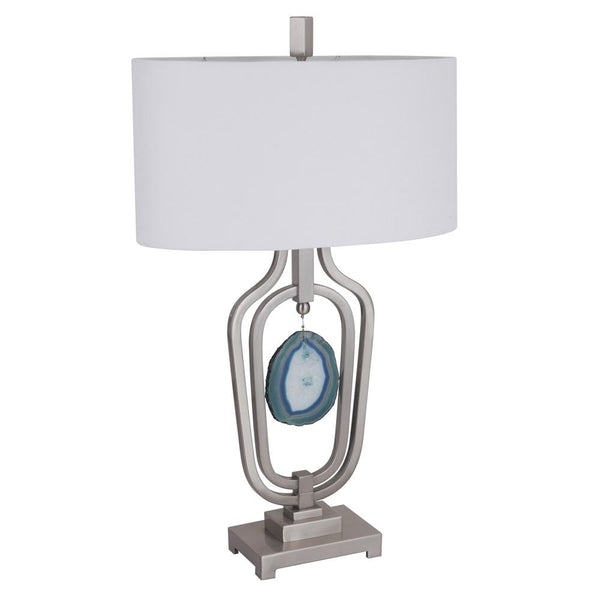 Mariana Home - Dorie One Light Table Lamp - Satin Nickel Finish - Agate Stone - 180066