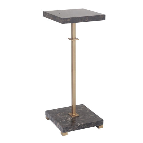 Mariana Home - Fletcher Small Marble Drink Table - Coffee Bronze Finish - 180072