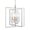 Mariana Home - Silus Four Light Pendant - Satin Nickel Finish - Alabaster - 180076