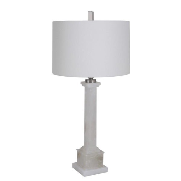 Mariana Home - Lucy One Light Table Lamp - Ivory Finish - Alabaster - 180077