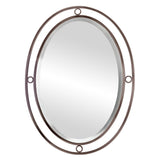 Mariana Home - Framed Oval Pinball Wall Mirror - Bronze Finish190020