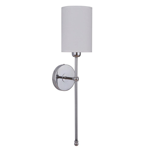 Mariana Home - Weston One Light Wall Sconce - Chrome, Silver Finish with White Shade - 200105