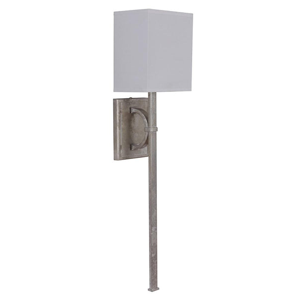 Mariana Home - Madeline One Light Sconce - Silver Leaf Finish - White Shade - 200114