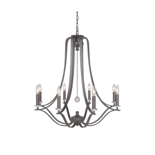 Crystal Bauble Chandelier - Bronze Finish - Mariana Home