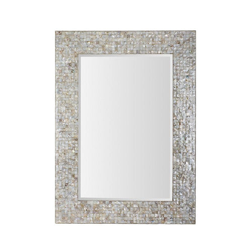 Mariana Home - Framed Rectangle Mother of Pearl Wall Mirror - 210113