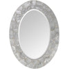 Mariana Home - Framed Oval Abyssal Wall Mirror - Oyster Shell - Coastal - 210128