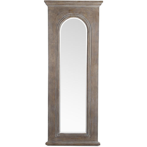 Mariana Home - Framed Washed Arched Wall Mirror - Wood Finish - 210134