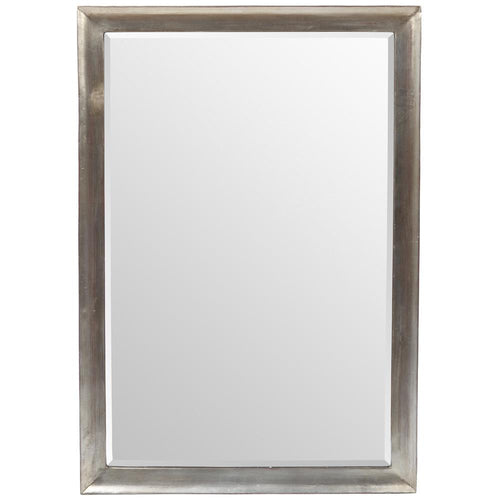 Mariana Home - Framed Carmel Rectangle Mirror - Walnut with Silver Finish - 210136