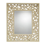 Mariana Home - Winston Square Framed Wall Mirror - White Washed Finish - 210140