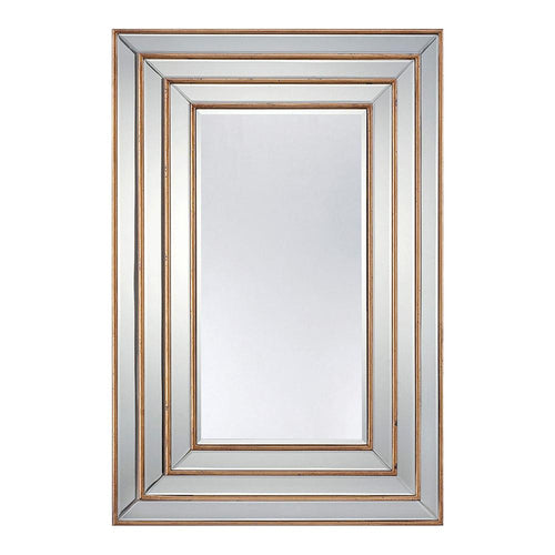 Mariana Home - Venus Retangle Framed Wall Mirror - Gold Leaf Finish - 210141