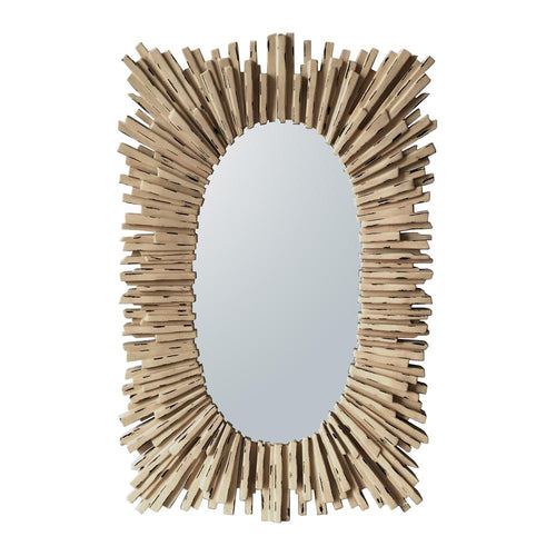Mariana Home - Endora Rectangle Framed Wall Mirror - White Washed Finish - 210143