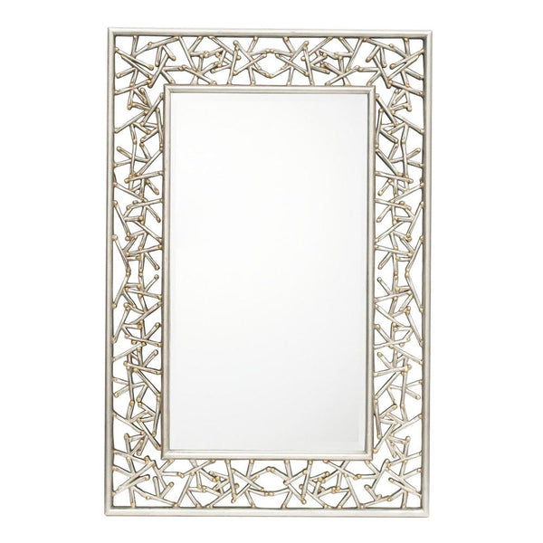 Mariana Home - Twilight Rectangle Framed Wall Mirror - Silver Leaf and Gold Finish - 210148