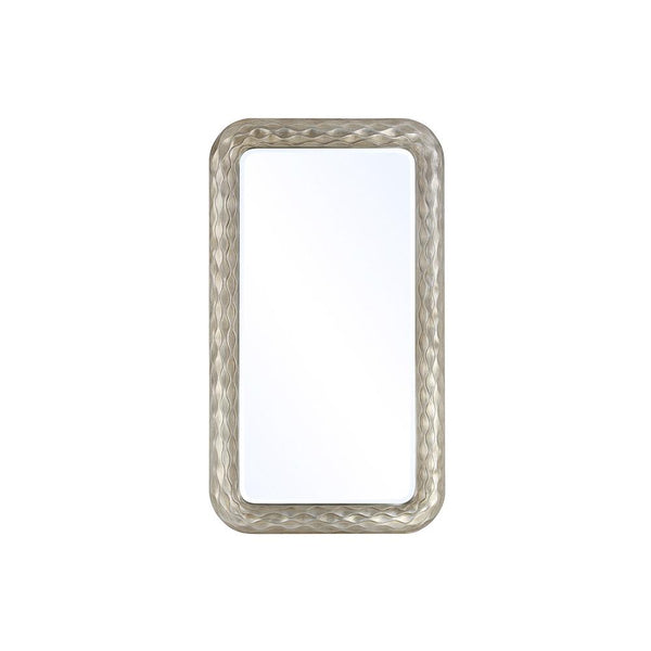 Mariana Home - Framed Rectangle Vincent Wall Mirror - Silver Leaf, Champagne Finish - 210152