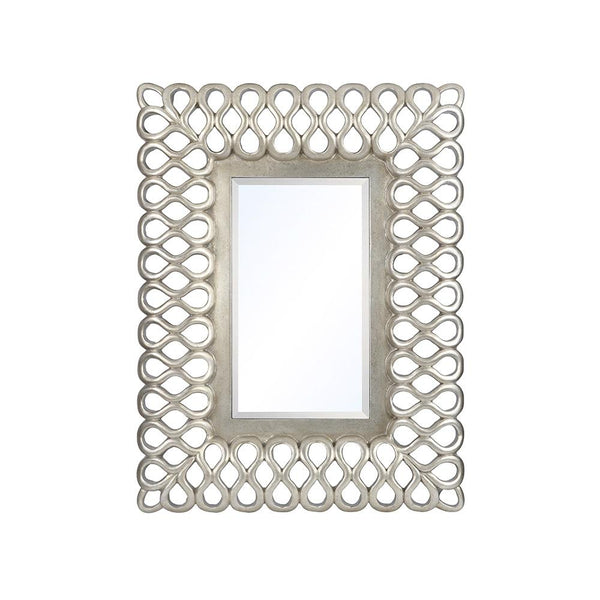 Mariana Home - Framed Rectangle Bordeaux Wall Mirror - Silver Leaf, Champagne Finish - 210153