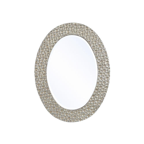 Mariana Home - Framed Oval Maurice Wall Mirror - Silver Leaf, Champagne Finish - 210154