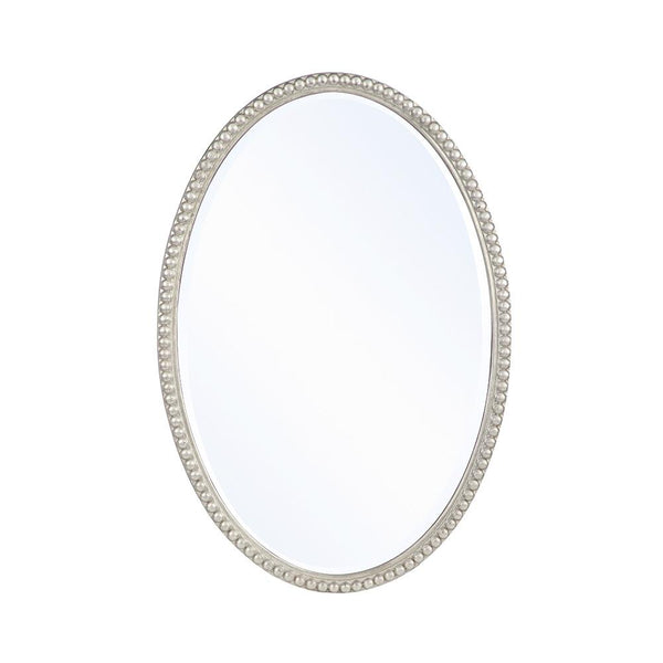 Mariana Home - Framed Oval Dracut Wall Mirror - Antique Silver Leaf Finish - 210155