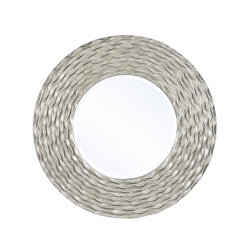 Mariana Home - Framed Spartus Round Wall Mirror - Antique Silver Leaf Finish - 210156
