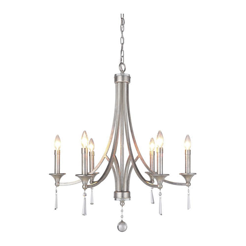 Mariana Home - Ava Six Light Chandelier - Champagne Finish with Crystal Accents - 230614