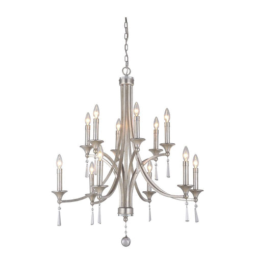 Mariana Home - Ava 12 Light Chandelier - Champagne Finish with Crystal Accents - 231214