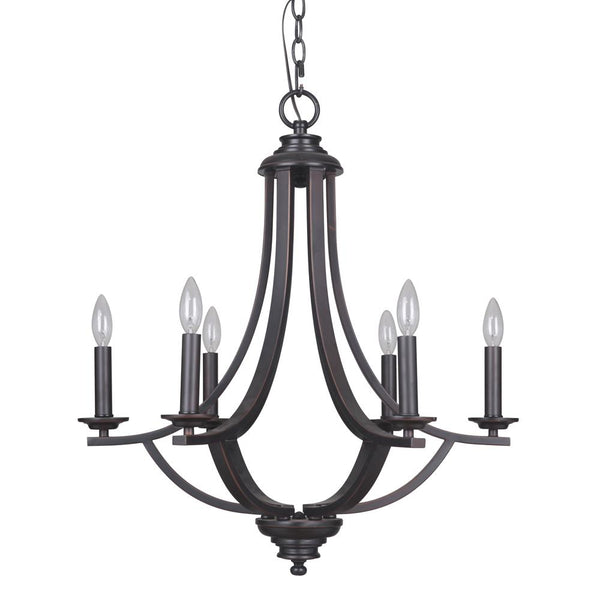 Mariana Home - Dapper Six Light Chandelier - Oil Rubbed Bronze Finish - 236690