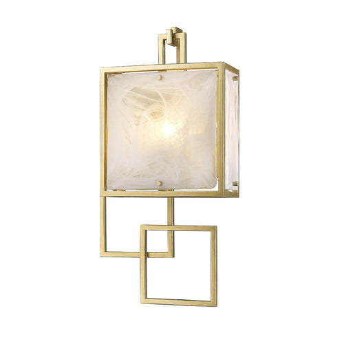 Mariana Home - Skyler One Light Wall Sconce - Gold Leaf Finish - Art Glass - 250123