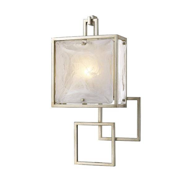 Mariana Home - Skyler One Light Wall Sconce - Silver Leaf Finish - Art Glass - 250128